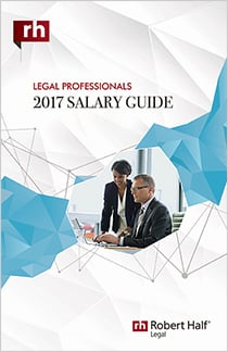 The cover of the 2017 Salary Guide for Legal Professionals