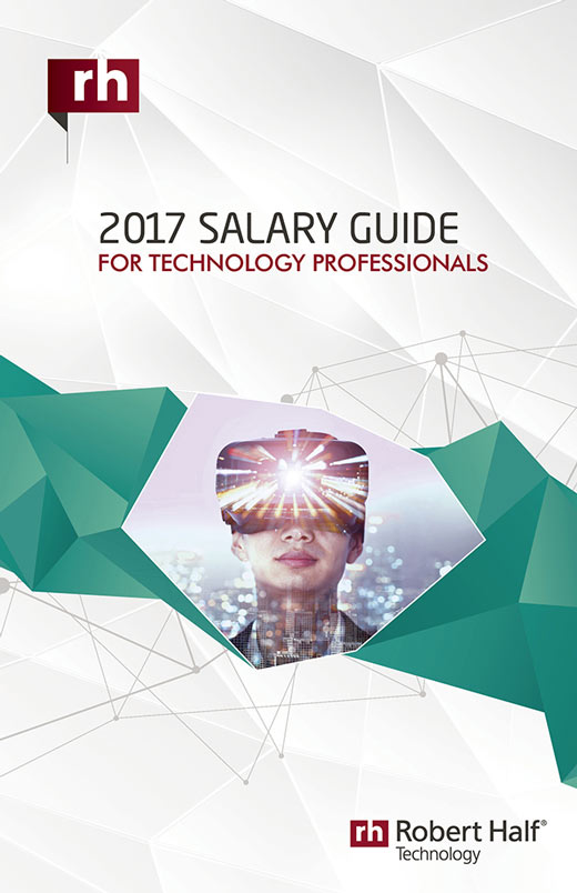 The cover of the 2017 Salary Guide for Technology Professionals