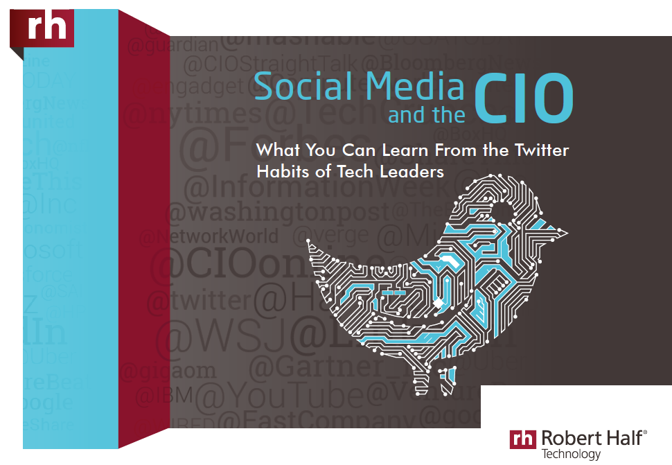The cover of Robert Half's report, Social Media and the C-10: What You Can Learn From the Twitter Habits of Tech Leaders