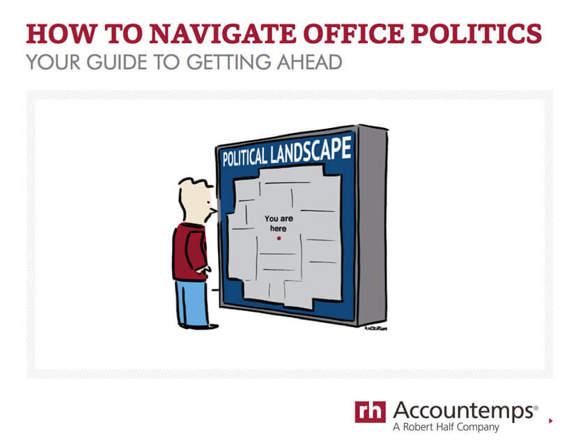 The cover of How to Navigate Office Politics: Your Guide to Getting Ahead by Robert Half