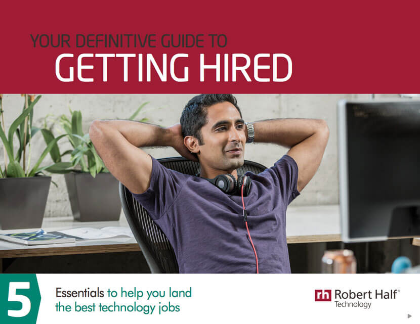The cover of Robert Half Technology's Your Definitive Guide to Getting Hired