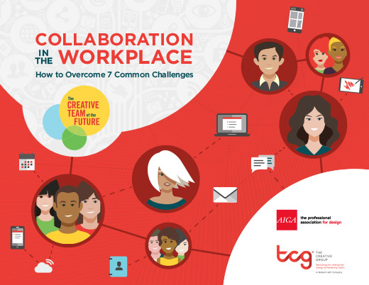 The title page of Collaboration in the Workplace from The Creative Group