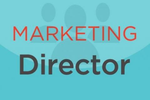 "Sign that reads ""Marketing Director"""