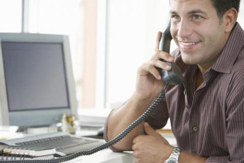 Candidate making a positive impression on a phone interview
