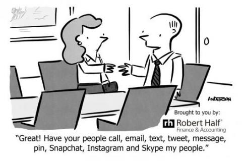 Workplace communication cartoon